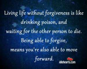 The goal of forgiving is always to heal yourself.