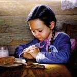 When you give thanks for the food you're about to it, you raise its vibration and you get in alignment with eating it.