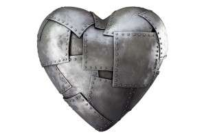 Is something covering the heart? (It could be anything: an armor, material, a wooden cage…)